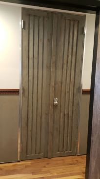 Custom Barn Door Wood Touch